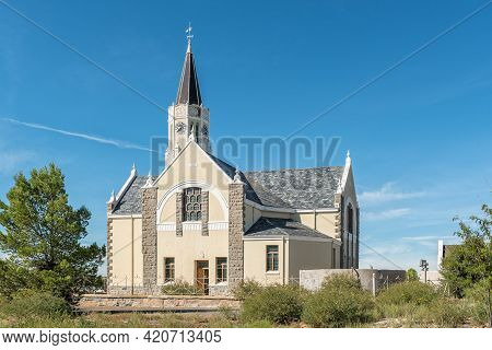 Hanover, South Africa - April 2, 2021: The Historic Dutch Reformed Church In Hanover In The Northern