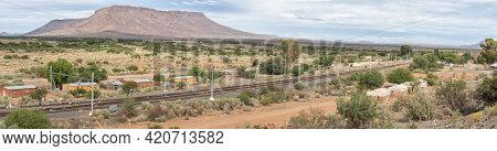Nelspoort, South Africa - April 2, 2021: Panoramic View Of The Railroad Station At Nelspoort In The