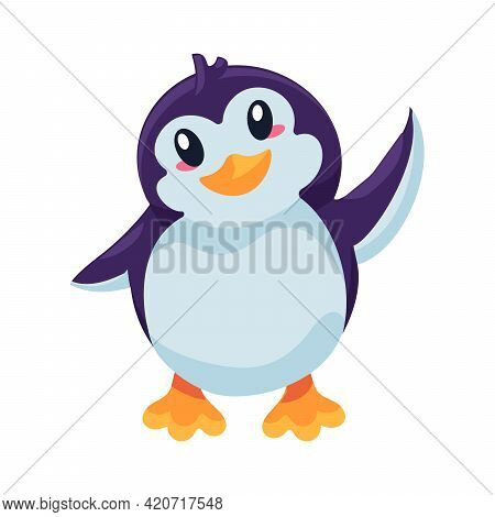 Penguin Antarctic Bird Flapping With Wing Vector