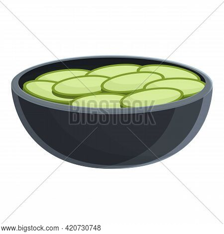 Korean Food Icon. Cartoon Of Korean Food Vector Icon For Web Design Isolated On White Background