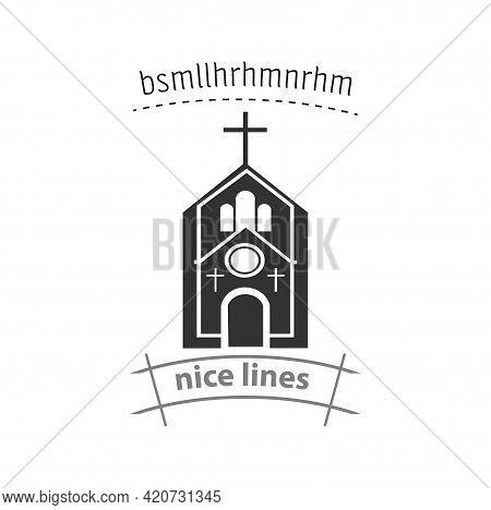 Church Icon. Church Simple Vector Icon. Church Isolated Icon