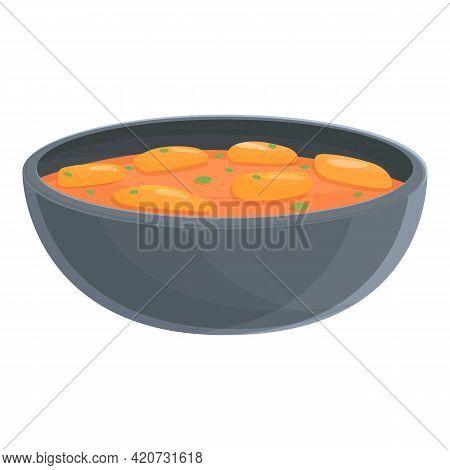 Oriental Korean Dish Icon. Cartoon Of Oriental Korean Dish Vector Icon For Web Design Isolated On Wh