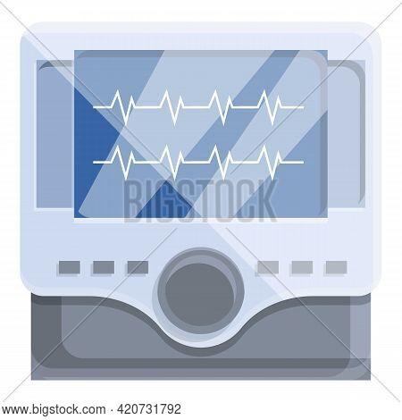 Aid Defibrillator Icon. Cartoon Of Aid Defibrillator Vector Icon For Web Design Isolated On White Ba