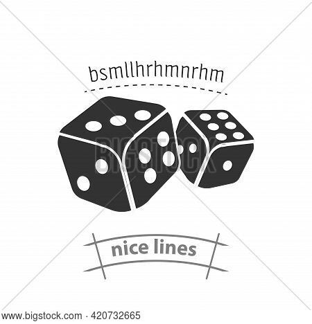 Dice Cubes Simple Vector Icon. Casino Dice Cubes Isolated Icon