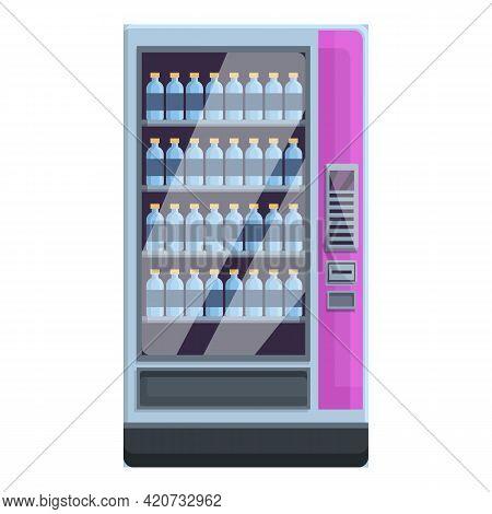 Mineral Water Drink Machine Icon. Cartoon Of Mineral Water Drink Machine Vector Icon For Web Design