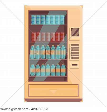 Cool Drink Machine Icon. Cartoon Of Cool Drink Machine Vector Icon For Web Design Isolated On White