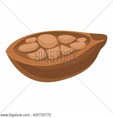 Ripe Baobab Fruit Icon. Cartoon Of Ripe Baobab Fruit Vector Icon For Web Design Isolated On White Ba