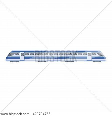 Speedy Train Icon. Cartoon Of Speedy Train Vector Icon For Web Design Isolated On White Background