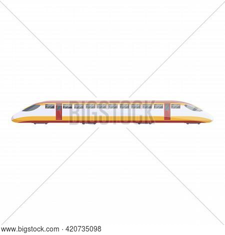 Express Locomotive Icon. Cartoon Of Express Locomotive Vector Icon For Web Design Isolated On White