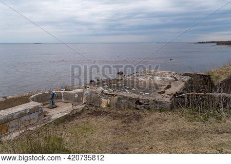 Kronstadt, Russia - May 10, 2021: Fort