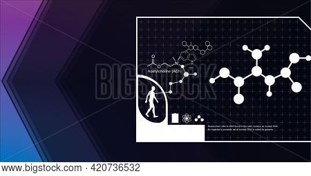 Composition of digital medical icons and data processing on screen. global medicine and science digital interface concept digitally generated image.