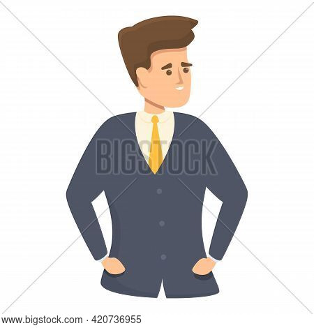 Boss Colleague Icon. Cartoon Of Boss Colleague Vector Icon For Web Design Isolated On White Backgrou