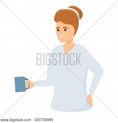 Take Tea Colleague Icon. Cartoon Of Take Tea Colleague Vector Icon For Web Design Isolated On White