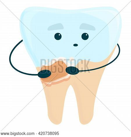 Teeth Whitening Care Icon. Cartoon Of Teeth Whitening Care Vector Icon For Web Design Isolated On Wh