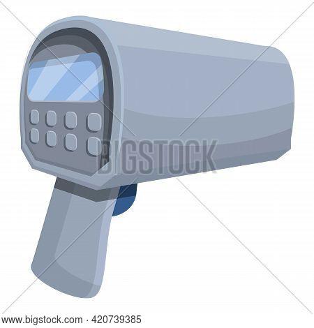 Speed Radar Icon. Cartoon Of Speed Radar Vector Icon For Web Design Isolated On White Background