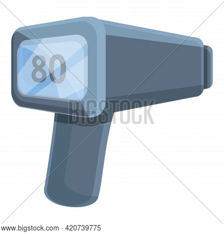Speed Radar Highway Icon. Cartoon Of Speed Radar Highway Vector Icon For Web Design Isolated On Whit