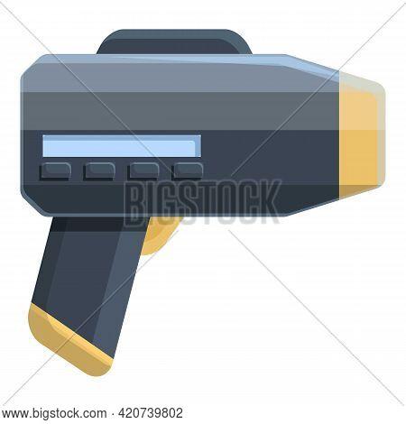 Speed Radar Gun Icon. Cartoon Of Speed Radar Gun Vector Icon For Web Design Isolated On White Backgr