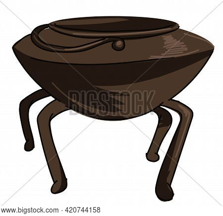Cauldron For Brewing, Old Kitchenware Or Casserole