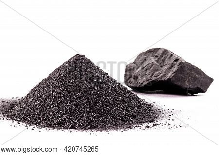 Piece Of Wood-based Charcoal, Charcoal, With Isolated White Background