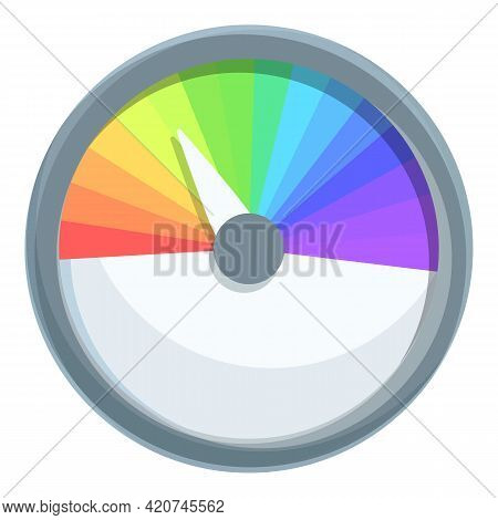 Ph Meter Color Level Icon. Cartoon Of Ph Meter Color Level Vector Icon For Web Design Isolated On Wh