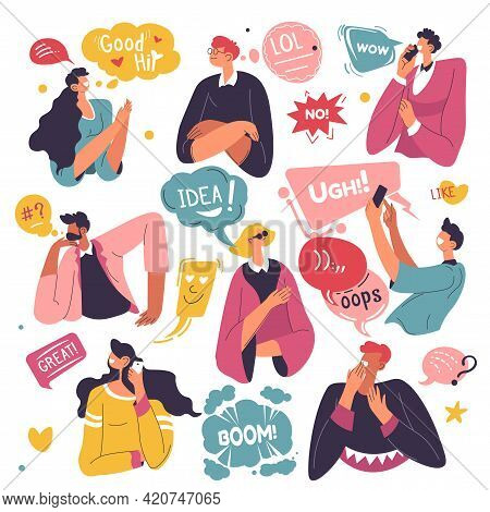 Emoticons And Stickers Used In Conversations Talk