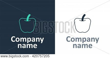 Logotype Apple Icon Isolated Logotype Background. Excess Weight. Healthy Diet Menu. Fitness Diet App