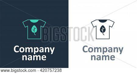 Logotype Vegan Shirt Icon Isolated Logotype Background. Logo Design Template Element. Vector
