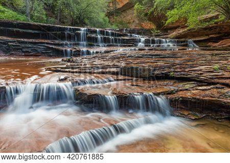 Archangel Water Fall Subway Trail Zion National Park Utah