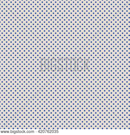 Bue Polka Dotted And Ecru Background Design Element For Backgrounds And Polka Dot Patterns.
