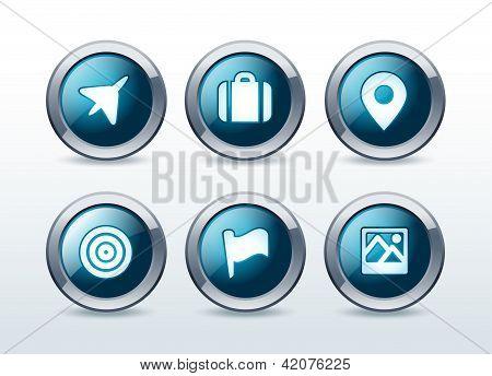 Location and destination icon set vector illustration