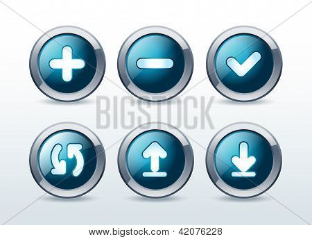 Web buttons icon set vector illustration