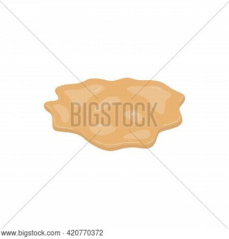 Unhealthy Liquid Type Of Diarrhea Excrement, Flat Vector Illustration Isolated.