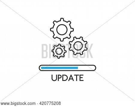 Update Icon Isolated White Background. Upgrade System Concept. Loading Process Or Refresh. Applicati