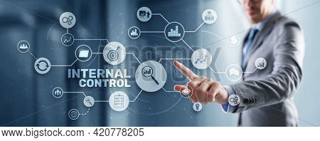 Internal Control On Virtual Screen. Accounting And Audit