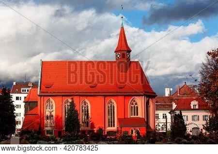 St.johannis Kirche And Cemetery In Nuremberg . Church Of St. John .  Johanniskirche Catholic Church