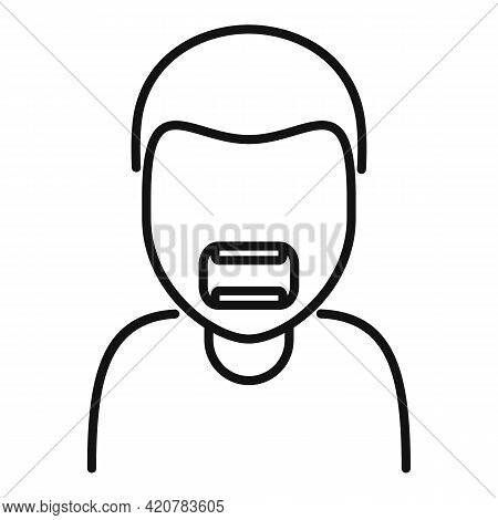 Angry Man Icon. Outline Angry Man Vector Icon For Web Design Isolated On White Background