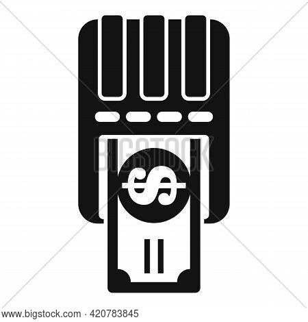 Bank Teller Cash Icon. Simple Illustration Of Bank Teller Cash Vector Icon For Web Design Isolated O