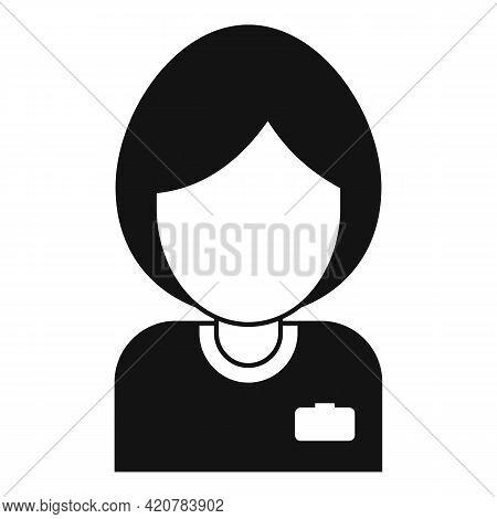 Bank Teller Woman Icon. Simple Illustration Of Bank Teller Woman Vector Icon For Web Design Isolated