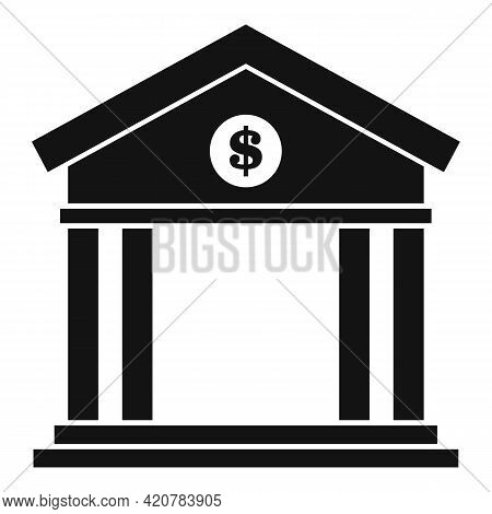 Bank Icon. Simple Illustration Of Bank Vector Icon For Web Design Isolated On White Background