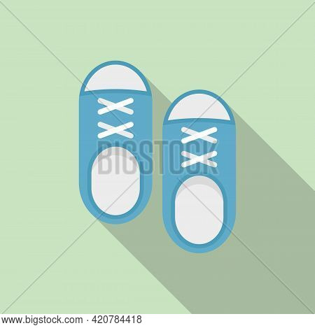 Running Shoes Icon. Flat Illustration Of Running Shoes Vector Icon For Web Design
