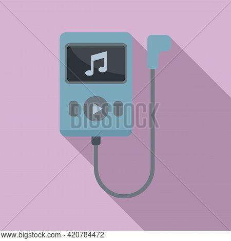 Running Music Player Icon. Flat Illustration Of Running Music Player Vector Icon For Web Design