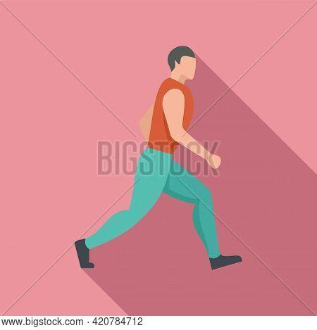 Running Man Icon. Flat Illustration Of Running Man Vector Icon For Web Design