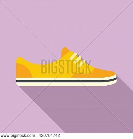 Running Light Shoes Icon. Flat Illustration Of Running Light Shoes Vector Icon For Web Design