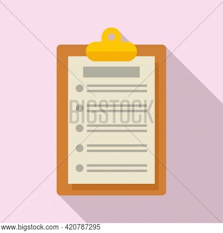 Syllabus Clipboard Icon. Flat Illustration Of Syllabus Clipboard Vector Icon For Web Design