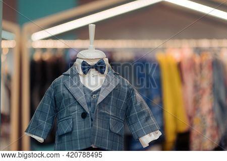 Little Tuxedo For Formal Events In Children Sop Window Display