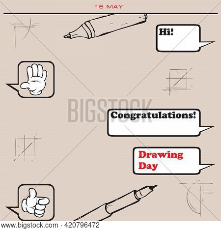 Congratulatory Correspondence In Electronic Format For The Date In May - Drawing Day