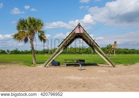 Cypremort Point, La - May 13: Shelter And Picnic Area At Cypremort Point State Park On May 13, 2021