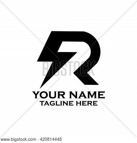 R Letter Design Vector. R Logo Energy