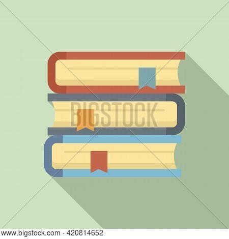 Syllabus Book Stack Icon. Flat Illustration Of Syllabus Book Stack Vector Icon For Web Design