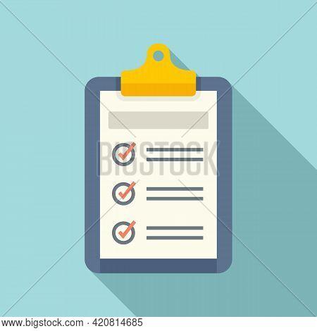 Syllabus Daily Clipboard Icon. Flat Illustration Of Syllabus Daily Clipboard Vector Icon For Web Des